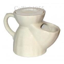Brocca da barba old England in ceramica bianca
