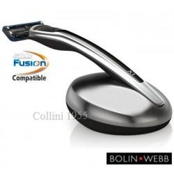 Rasoio Fusion Bolin Webb X1 Argent Black con Stand