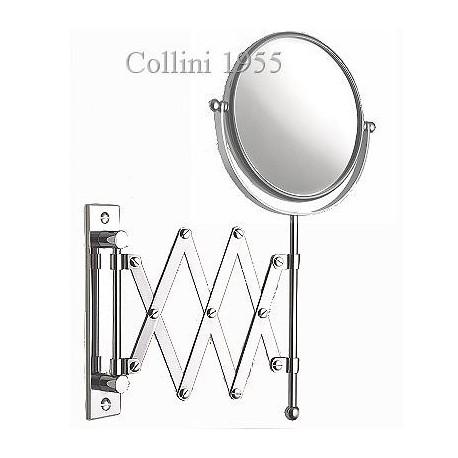 Specchio da parete a pantografo bifacciale Ø17 Piazza - Collini 1955