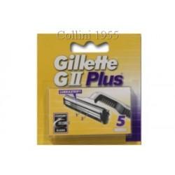 Confezione da 5 Lame Gillette GII Plus