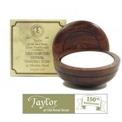 Sapone  da barba in ciotola legno Taylor al Sandalo