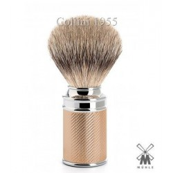 Pennello da barba in tasso Muhle M 89 Rosegold