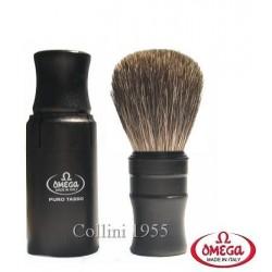 Pennello da barba in tasso Omega 614 da viaggio