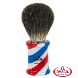 Pennello da barba in tasso Omega Berber Pole 6736