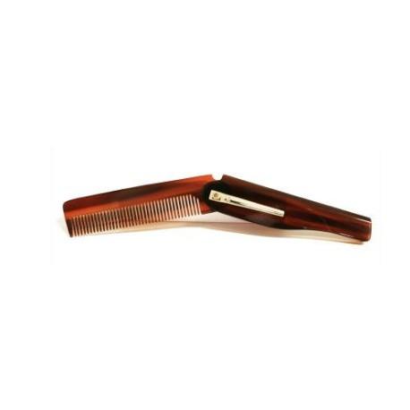 Pettine pieghevole per baffi dotato di clip