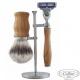Set da barba Rasoio Mach3 e manici in Olivo Collini1955