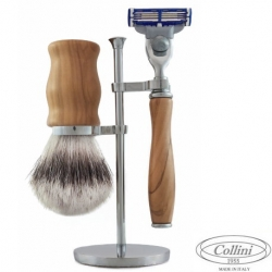 Set da barba Rasoio Mach3 e manici in Olivo Collini1955
