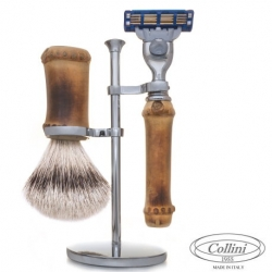 Set da barba Rasoio Mach3 e man. Bamboo Collini1955