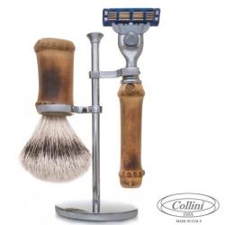Set da barba Rasoio Mach3 e man. Bamboo Collini1955