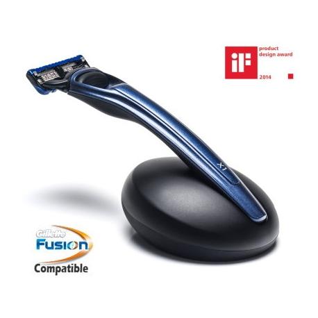 Rasoio Fusion Bolin Webb X1 Ocean Blue con Stand