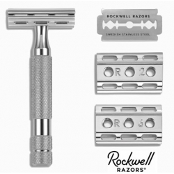 Rasoio di Sicurezza DE Rockwell 6C Adjustable White Chrome