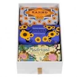 Confezione Collezione Deco da 3 saponi Banho, Ilyria, Madrigal x 150 g