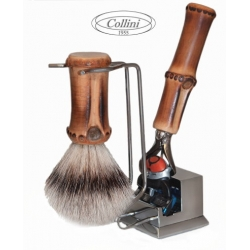 Set da barba Rasoio Fusion FlexBall e man. Bamboo Collini1955