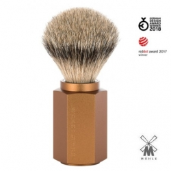 Pennello da barba in tasso Muhle Hexagon Bronze