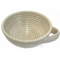 Ciotola in Ceramica per Rasatura colore Avana