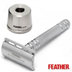 Rasoio di Sicurezza DE Feather AS-D2S INOX con Stand