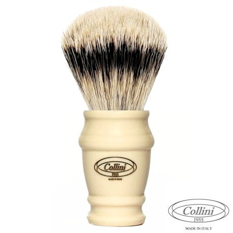 """Pennello Barba in Tasso Silvertip """"Il Conte"""" A Ø 25 Collini1955"""