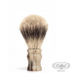"""Pennello Barba in Tasso Silvertip man. Corno """"Il Viaggiatore"""" Collini1955"""