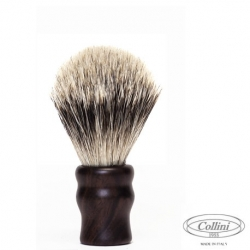 """Pennello Barba in Tasso Silvertip man. Ebano """"Il Viaggiatore"""" Collini1955"""