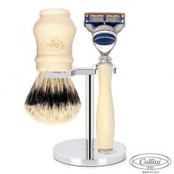 Set da barba Fusion Manici finto Avorio Collini1955