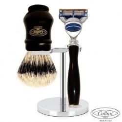 Set da barba Fusion Manici Neri Collini1955