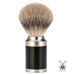 Pennello da barba in tasso Muhle ROCCA  Manico Inserto Nero