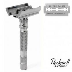 Rasoio di Sicurezza DE Rockwell Adjustable Model T White Chrome