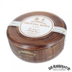 Sapone  da barba in ciotola legno mahogany effect Harris Mandorla