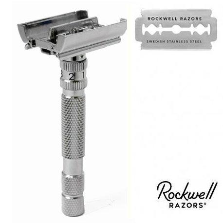 Rasoio di Sicurezza DE Rockwell Adjustable Model T2 White Chrome