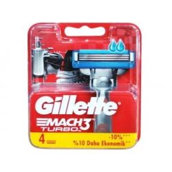 Confezione da 4 Lame Gillette Mach3 Turbo