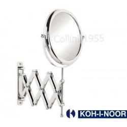 Specchio da parete a pantografo bifacciale