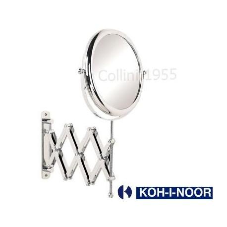 Specchio da parete a pantografo bifacciale koh i noor for Specchio bagno koh i noor