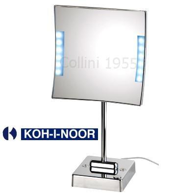 Specchio da tavolo quadrololed con luce a led koh i noor for Specchio bagno koh i noor